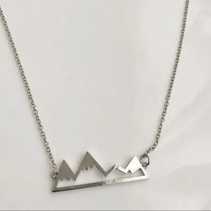 Snowy Mountain Range Necklace